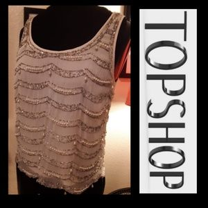 Gorgeous Pearl/Sequin Topshop Tank!